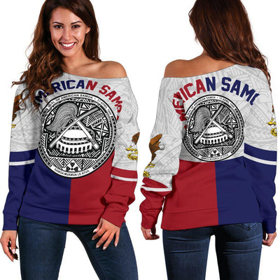 AMERICAN SAMOA FLAG SPORT Shoulder Sweater