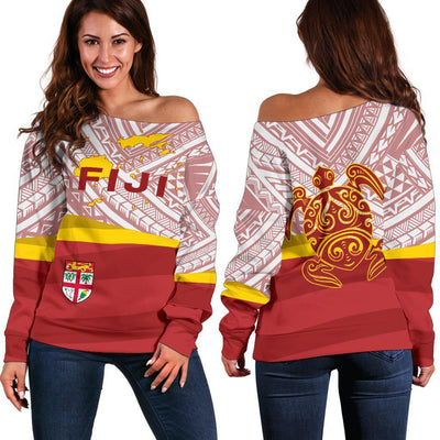 Fiji Flag Turtle Tattoo Shoulder Sweater