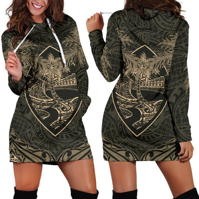 Guam Coat Of Arms Coconut Hoodie Dress