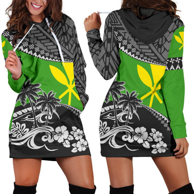 Hawaii Fall In the Waves Hoodie Dress - luxamz