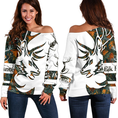 TATTOO CAMO HUNTER Shoulder Sweater