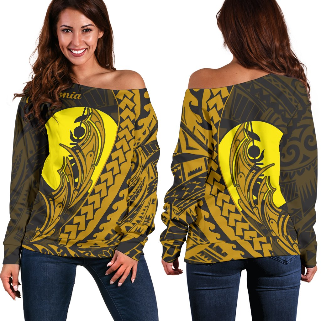 New Caledonia Wings Style Shoulder Sweater - luxamz