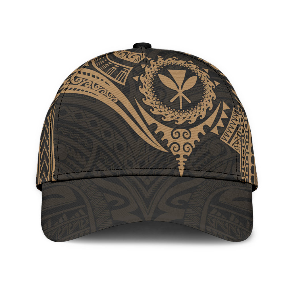 HAWAII POLYNESIAN GOLD HEART SHIELD CLASSIC CAP - luxamz