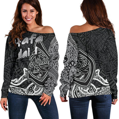 Cook Islands Sweatshirt Polynesian Coat Of Arms Shoulder Sweater