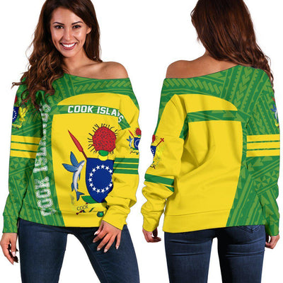 Cook Islands Polynesia Sport Premium Style Shoulder Sweater - luxamz