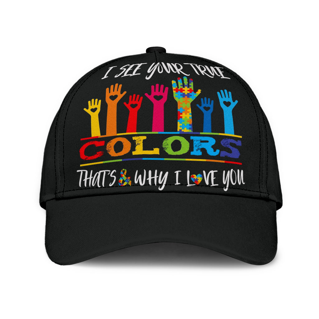 I See Your True Colors Autism Classic Cap - luxamz