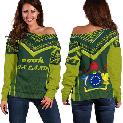 COOK ISLAND POLYNESIAN Off Shoulder Sweater