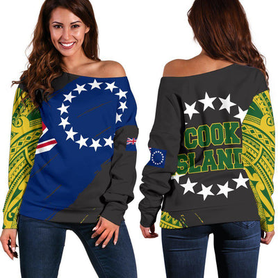 COOK ISLANDS NORA STYLE Shoulder Sweater