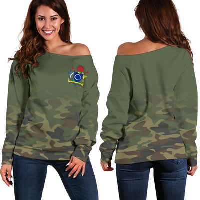 Cook Islands T-Shirt Camo Shoulder Sweater