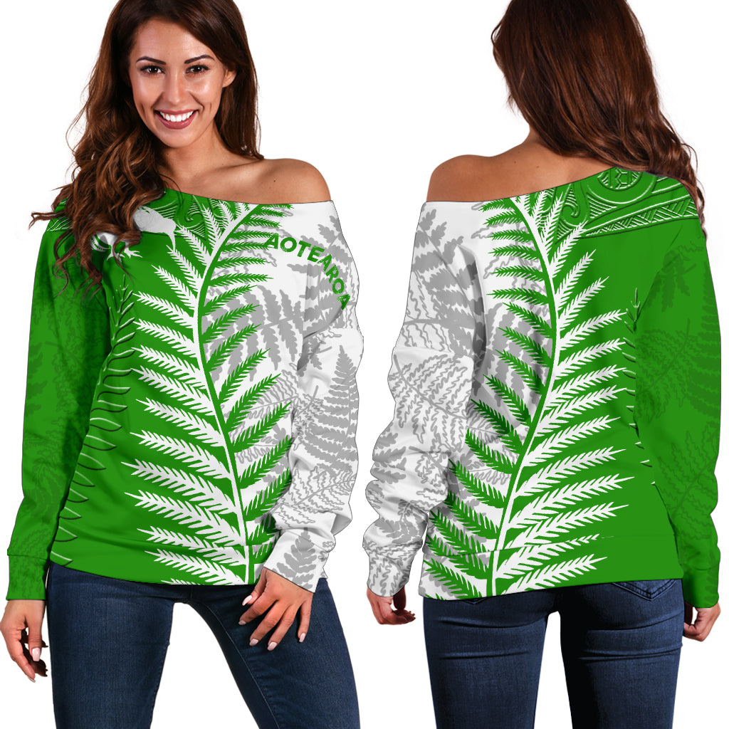 New zealand with silver fern kiwi shoulder sweater