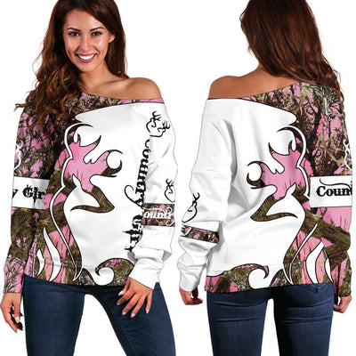 A COUNTRY GIRL Shoulder Sweater