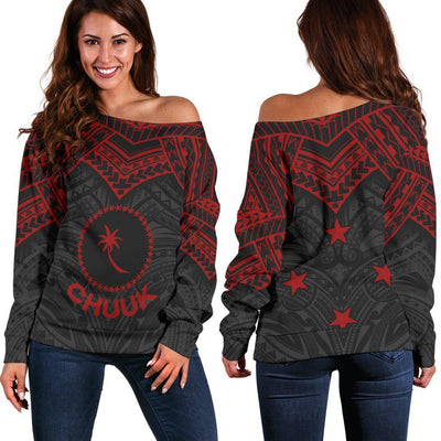 Chuuk Micronesian Red Armor Style Shoulder Sweater