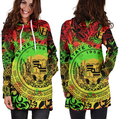 Hawaii Seal Polynesian Tattoo Hoodie Dress