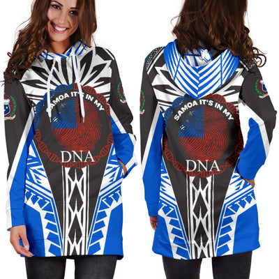 Samoa It's In My DNA Color Blue Hoodie Dress