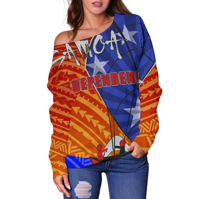 Samoa Polynesian Samoa Independence Day Shoulder Sweater