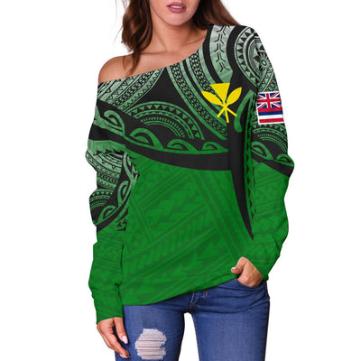 Hawaii Polynesian Tattoo Pattern Shoulder Sweater