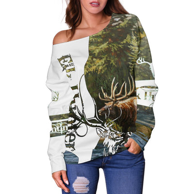 Elk Hunting Shoulder Sweater