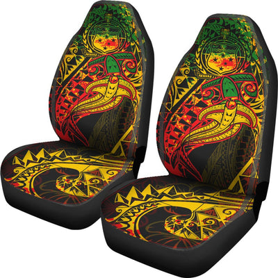 Samoa Red Shark Polynesian Tattoo Color Car Seat Covers