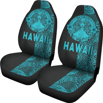 Polynesian Madame Pele Mauna Kea Hawaii The Half Blue Car Seat Covers