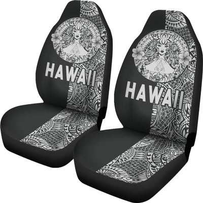 Polynesian Madame Pele Mauna Kea Hawaii The Half White Car Seat Covers