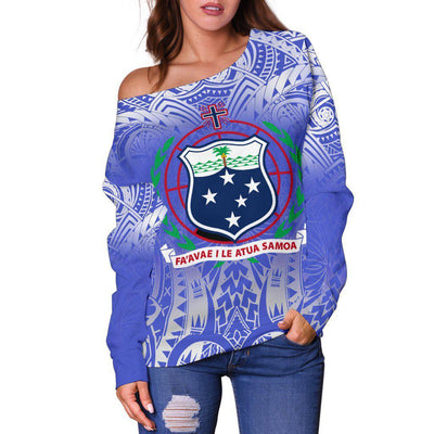LIGERKING AMERICAN SAMOA Shoulder Sweater - luxamz