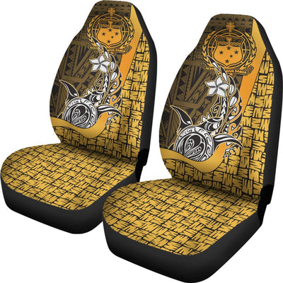 Samoa Polynesian Turtle with Hook Gold Car Seat Covers