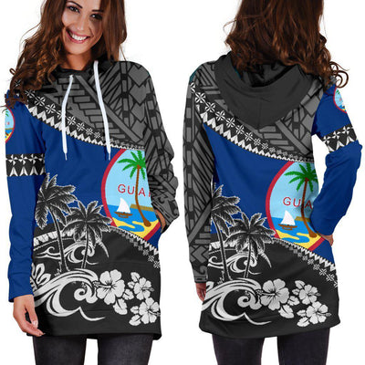 Guam Fall In the Wave Hoodie Dress - luxamz