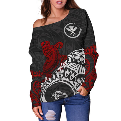 Polynesian Hawaii  - Polynesian Turtle Shoulder Sweater