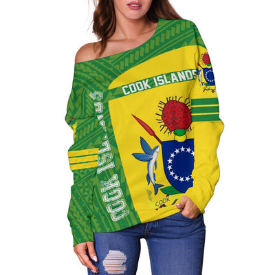 Cook Islands Polynesia Sport Premium Style Shoulder Sweater