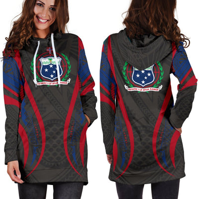 Samoa Coat Of Arms Polynesian Stylized Hoodie Dress