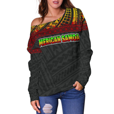 American Samoa Custom Personalised Shoulder Sweater