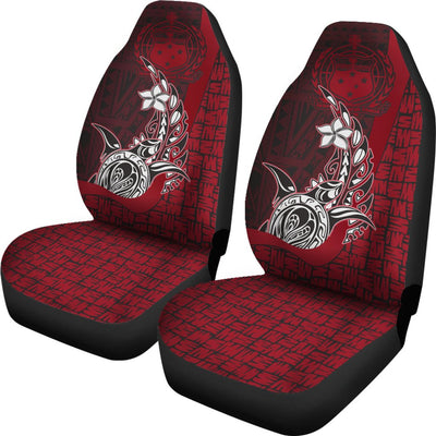Samoa Polynesian Turtle with Hook Car Seat Covers - luxamz