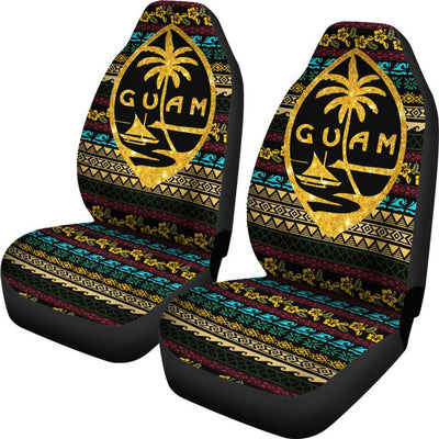 Guam Polynesian Color Pattern Car Seat Covers