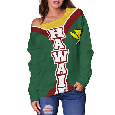 HAWAII OLYNESIAN IMPACT VERSSION Shoulder Sweater - luxamz