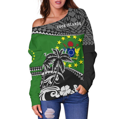 Cook Islands Polo Fall In The Wave Off Shoulder Sweater - luxamz