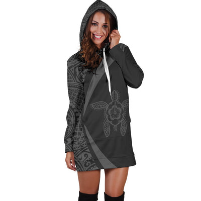 Hawaii Polynesian Tribal Circle Style Hoodie Dress