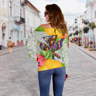 Polynesian Hawaii Hoodies Turtle Colorful Shoulder Sweater - luxamz