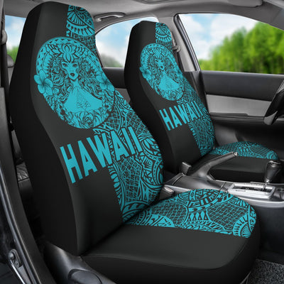 Polynesian Madame Pele Mauna Kea Hawaii The Half Blue Car Seat Covers - luxamz