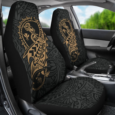 Hawaii Polynesian Suffer Kanaka Warrior Car Seat Covers - luxamz