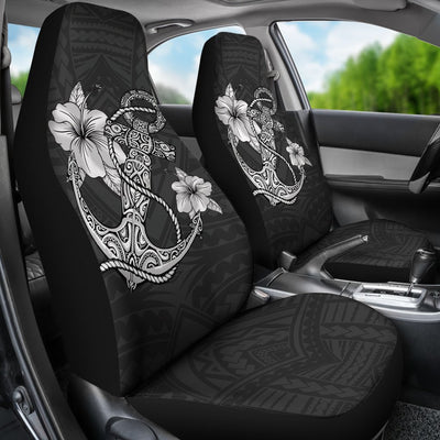 Hawaiian Anchor And Hibiscus Polynesian Car Seat Covers