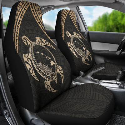 Hawaiian Map Tribal Mask Turtle Car Seat Cover - luxamz
