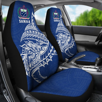 Samoa Rugby - Samoa Coat Of Arms Polynesian Tattoo Style Car Seat Cover