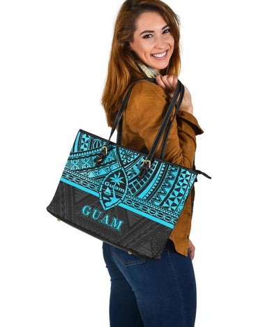 Guam Polynesian Reggae Color Large Leather Totes
