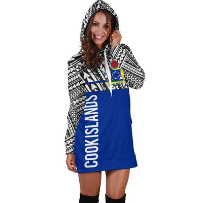 Cook Islands Coat Of Arms Polynesian Horizontal Style Hoodie Dress