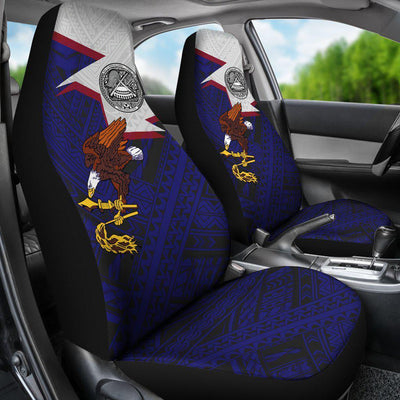 American Samoa Eagle Blue Car Seat Covers