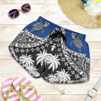 Guam Polynesian Turtle, Tropical Women's Shorts