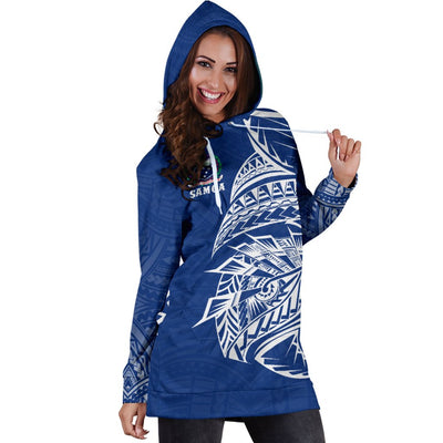 Samoa Rugby - Samoa Coat Of Arms Polynesian Tattoo Style Hoodie Dress