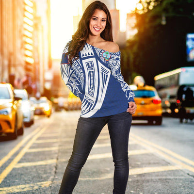Guam Polynesian Tribal Tattoo Shoulder Sweater