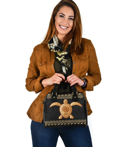 Tribal Sea Turtle Polynesian Hawaiian Shoulder Handbag