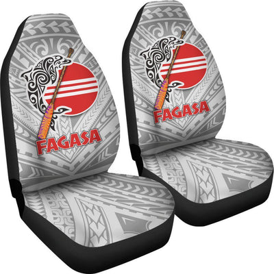 Fagasa American Samoa Pattern Gray Car Seat Covers